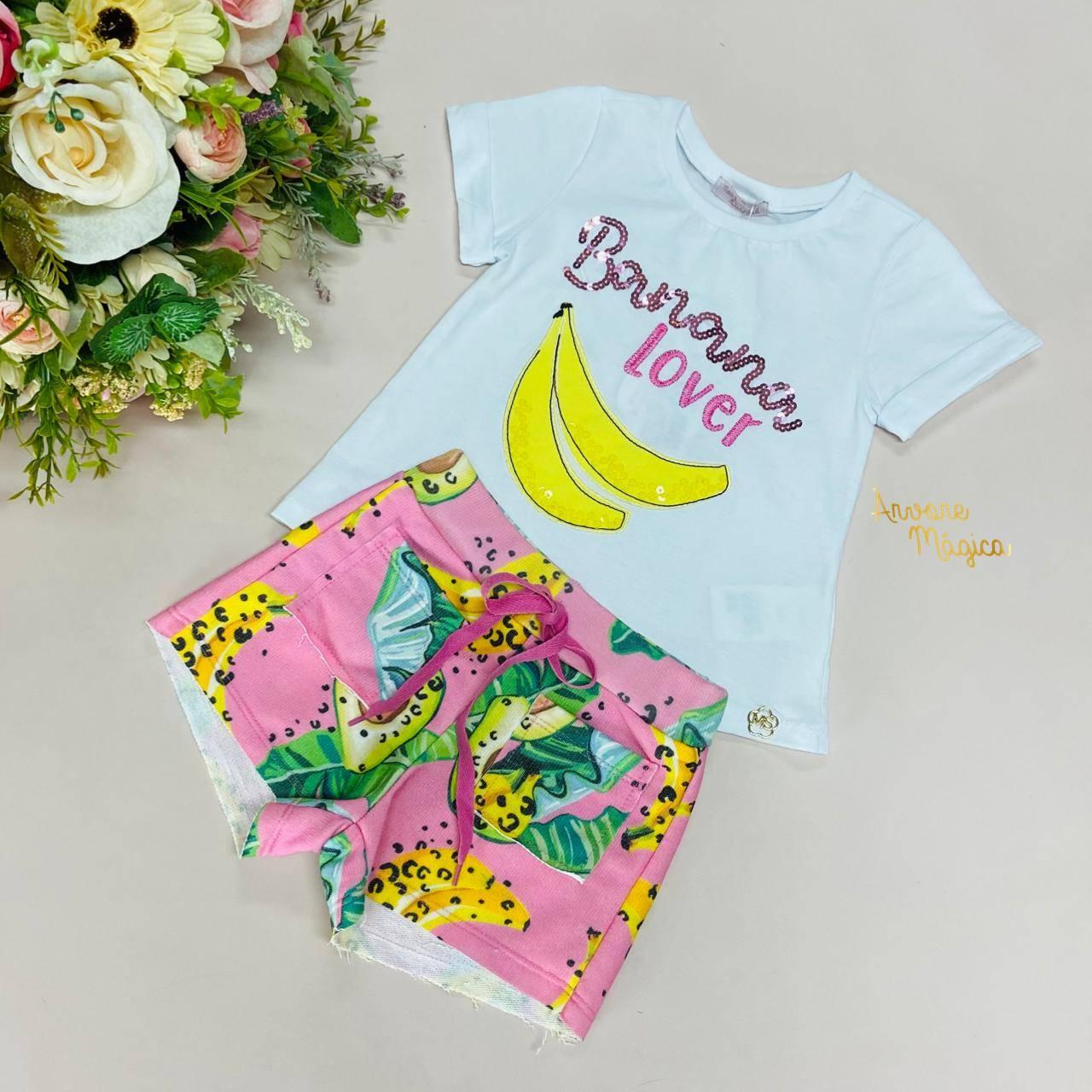 Conjunto Infantil Banana Lover Mon Sucré