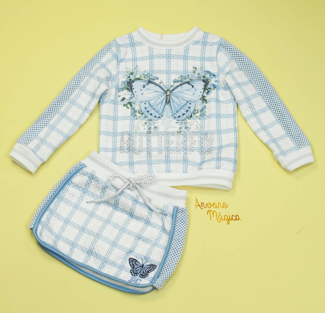 Conjunto Infantil Butterfly Blue Petit Cherie