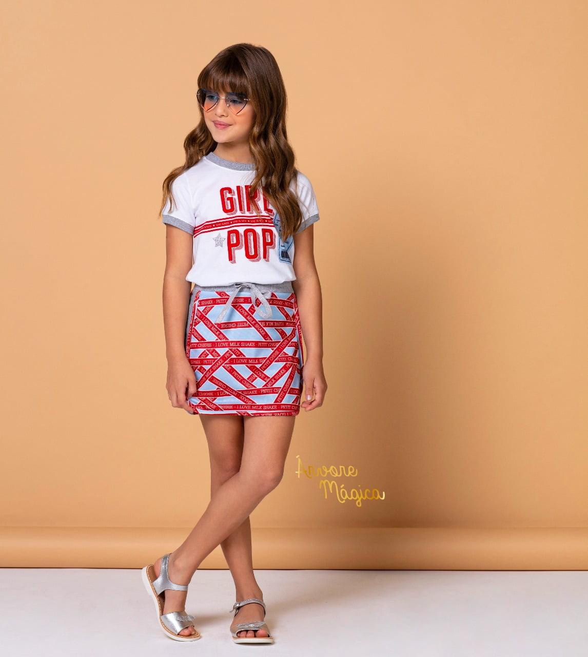 Conjunto Infantil Pop Girl Petit Cherie