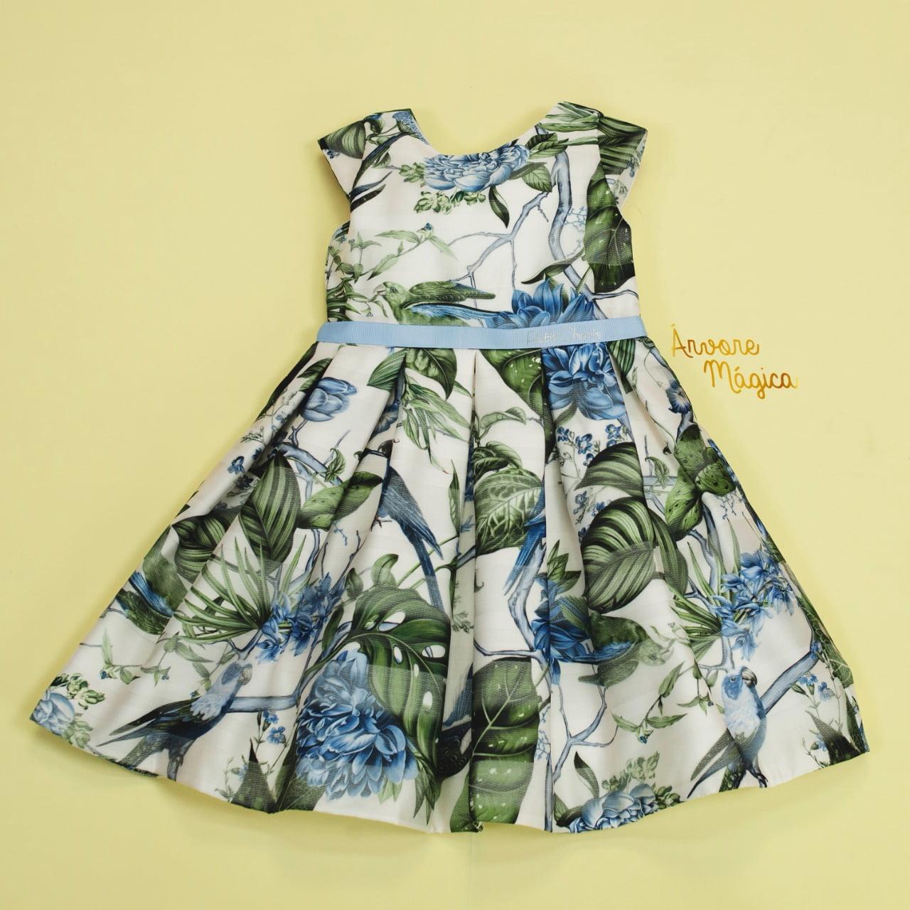 Vestido de Festa Infantil Organza Floral Petit Cherie