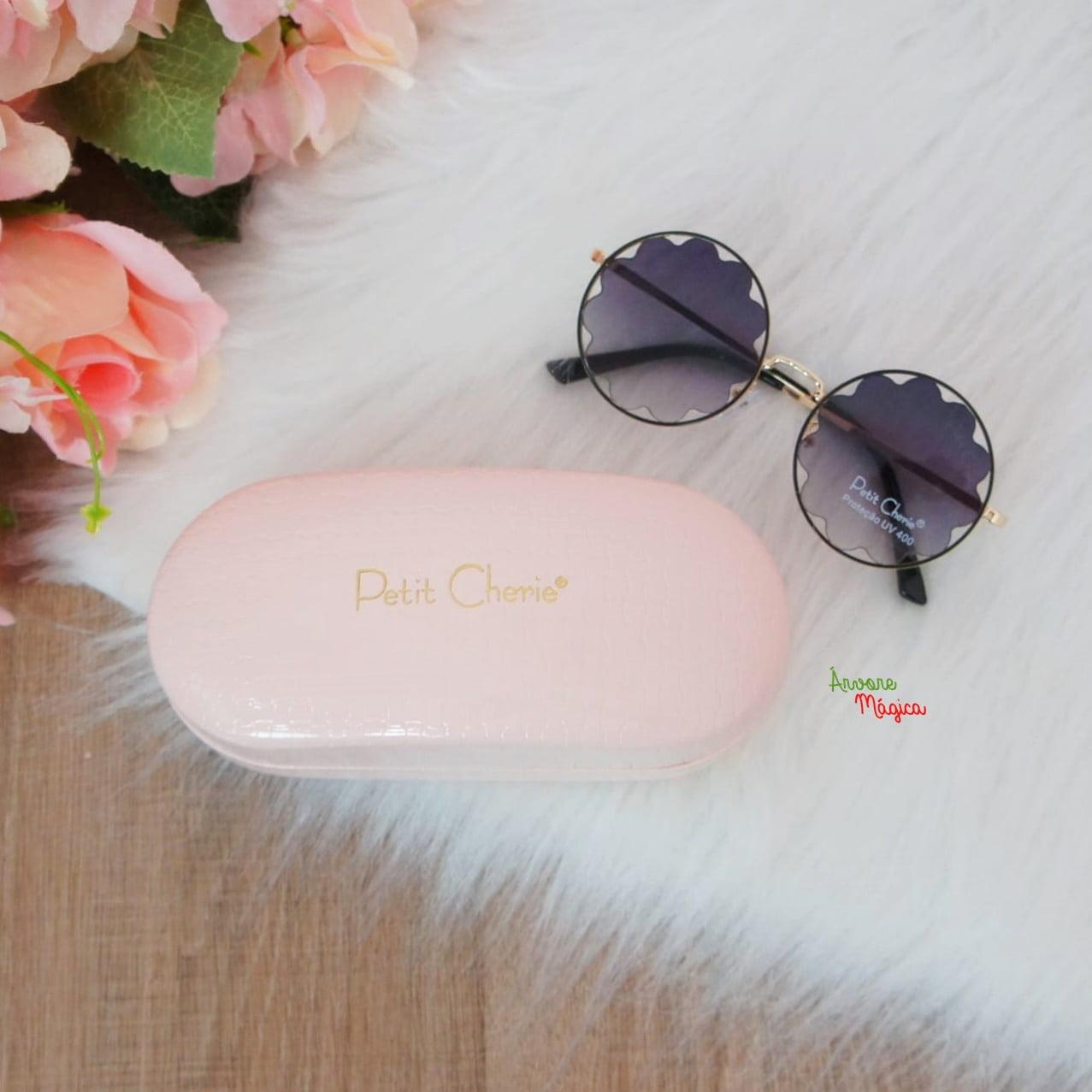 Óculos de Sol Flower Preto Petit Cherie UV400
