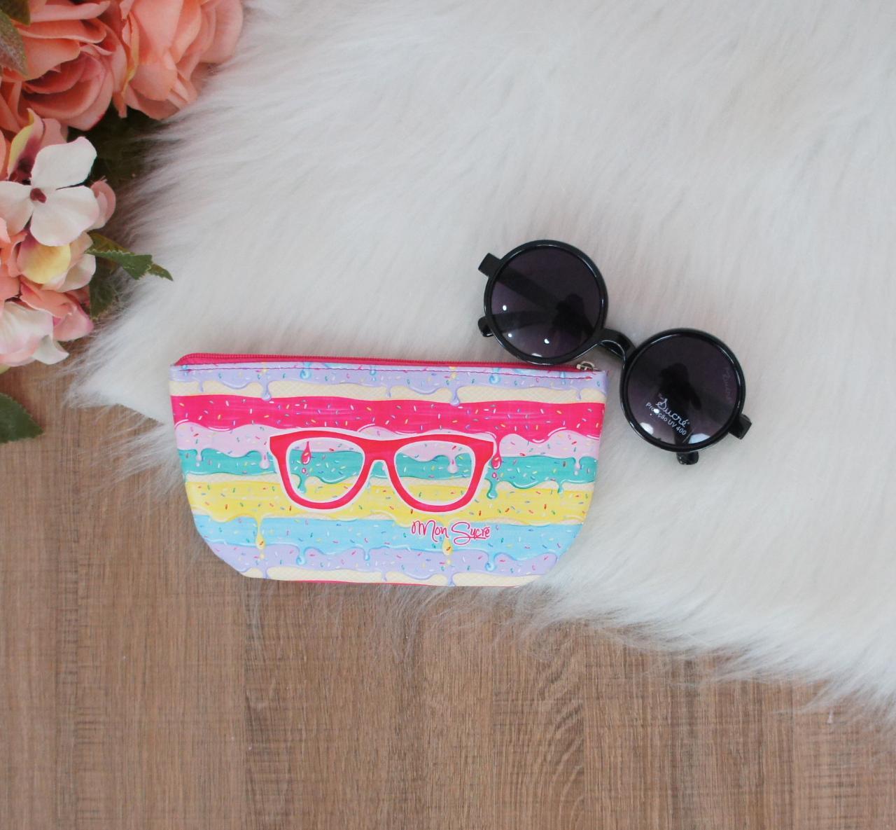 Óculos de Sol Preto Redondo Mon Sucré UV400