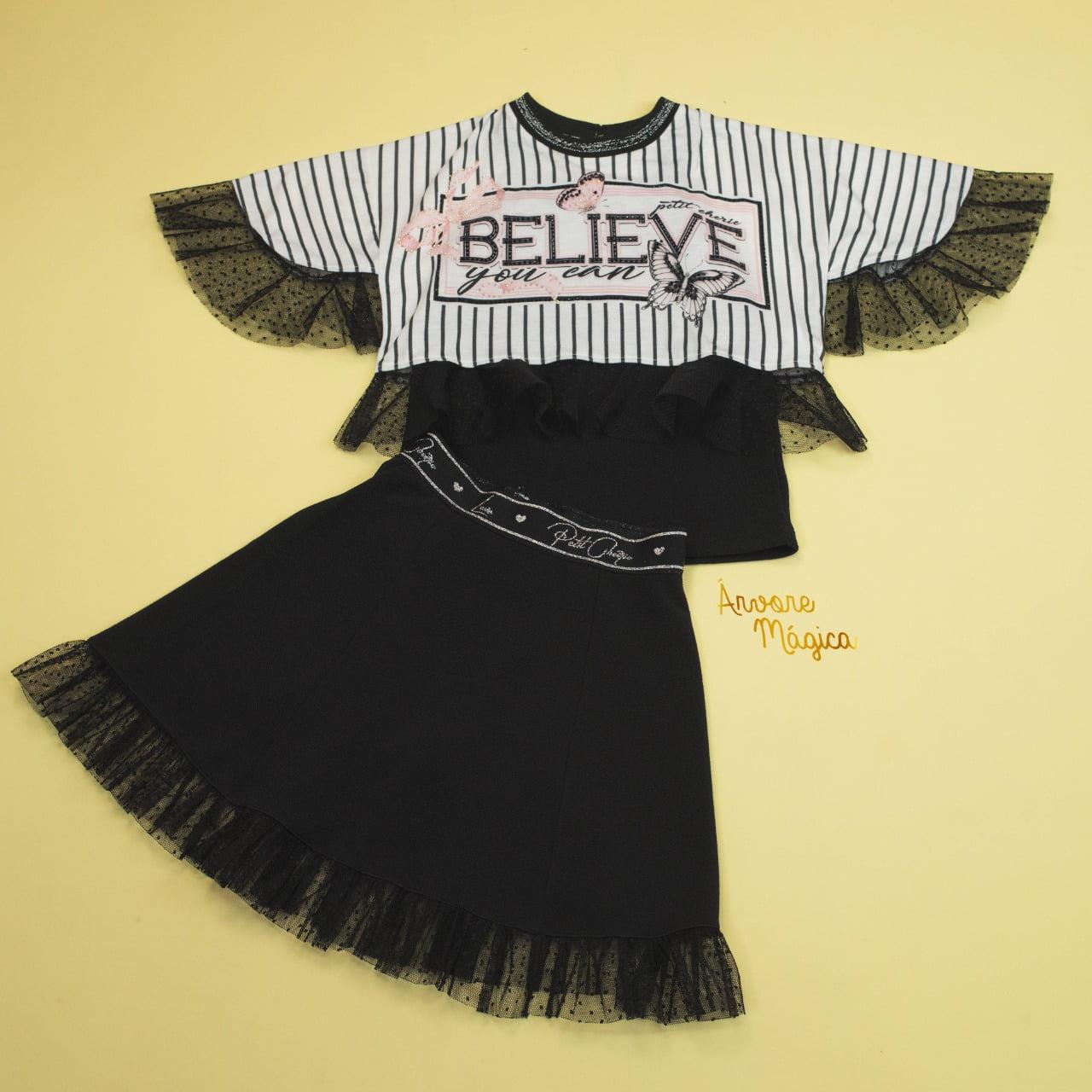 Conjunto Infantil 3 Peças Believe Petit Cherie