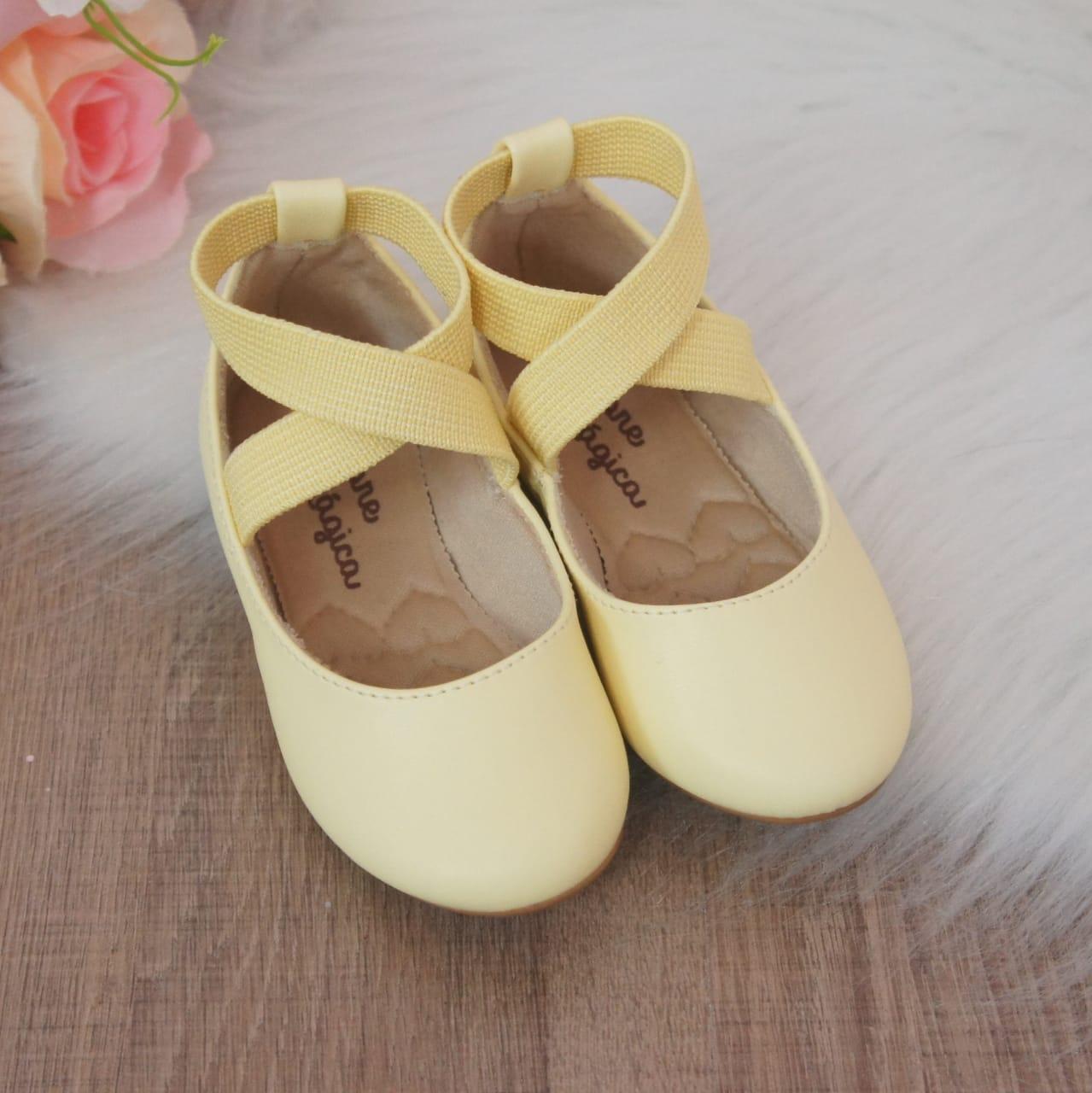 Sapatilha Bailarina Amarelo Candy