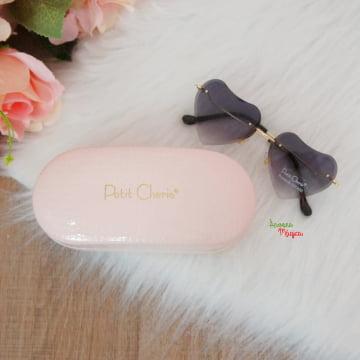 Óculos de Sol Coração Preto Petit Cherie UV400