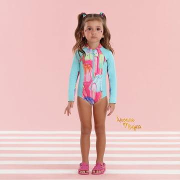 Maiô Infantil Ice Cream Proteção UV50+