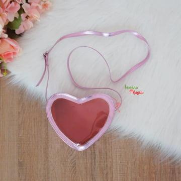 Bolsa Coração Lilás Metal
