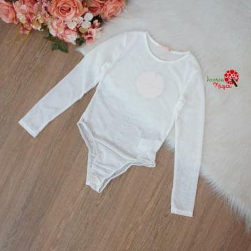 Body Tule Infantil Branco Petit Cherie