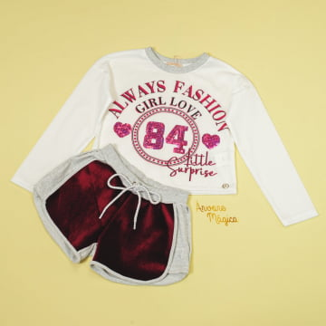 Conjunto Infantil Always Fashion Petit Cherie