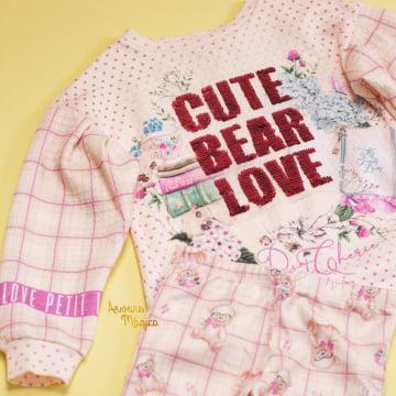 Conjunto Infantil Cute Bear Love Petit Cherie