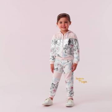 Conjunto Infantil Flower Silver Petit Cherie