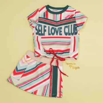 Conjunto Infantil Self Love Club Mon Sucré