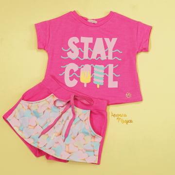 Conjunto Infantil Stay Cool Mon Sucré