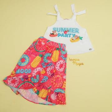 Conjunto Infantil Summer Party  Mon Sucré