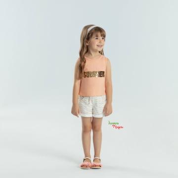 Conjunto Infantil Summer Blusa Salmão Petit Cherie