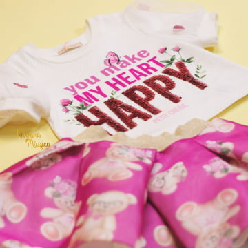 Conjunto Infantil You Make My Heart Happy Petit Cherie