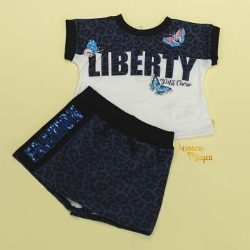 Conjunto Liberty Fashion Onça Petit Cherie
