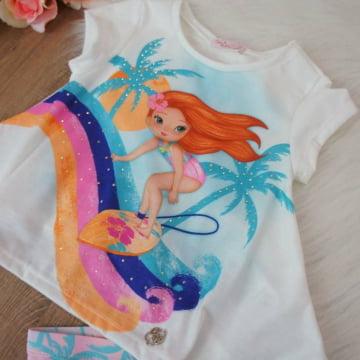 Conjunto Infantil Menina Surfista Mon Sucré