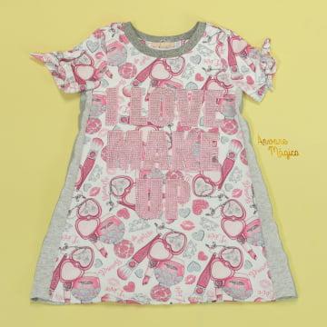 Vestido Infantil Love Make Up Petit Cherie