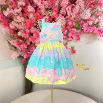 Vestido Infantil Calda de Sorvete Mon Sucré