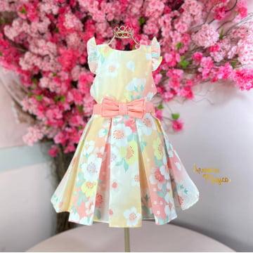 Vestido Infantil Verão Floral Mon Sucré