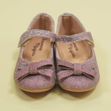 Sapatilha Glitter Multicolors Velcro Laço