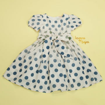 Vestido de Festa Infantil Lívia Poá Petit Cherie