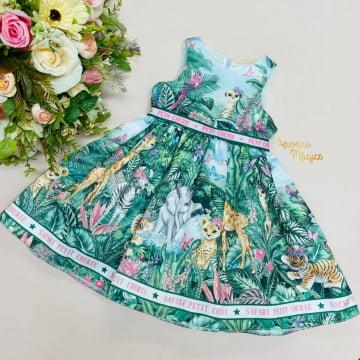 Vestido de Festa Infantil Safari Petit Cherie