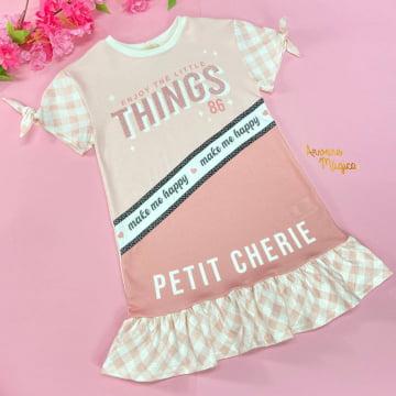 Vestido Infantil Make Me Happy Petit Cherie