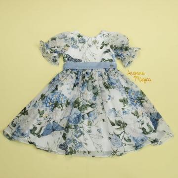 Vestido de Festa Infantil Agatha Fluído Petit Cherie