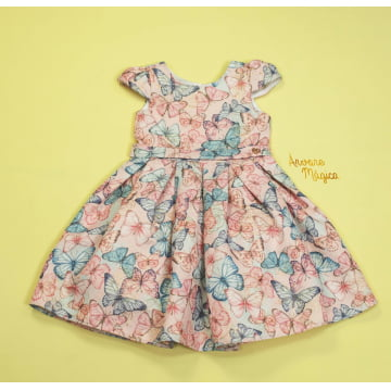 Vestido de Festa Infantil Butterflies Petit Cherie