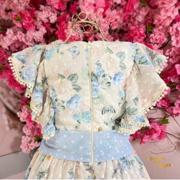Vestido de Festa Infantil Fluído Encantos Petit Cherie
