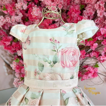 Vestido de Festa Infantil Jardim Encantado Organza Petit Cherie