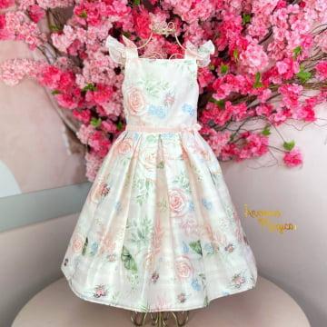 Vestido de Festa Infantil Jardim Primavera Petit Cherie