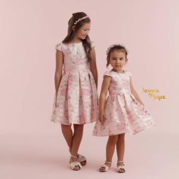 Vestido de Festa Infantil Jardim Encantado Kids Organza Petit Cherie