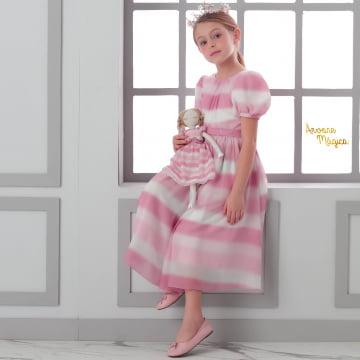 Vestido de Festa Infantil Princesa Lara Petit Cherie