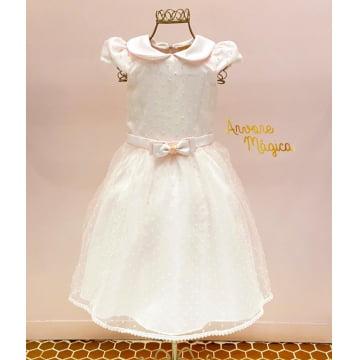 Vestido de Festa Infantil Rosinha Tule Poá Petit Cherie