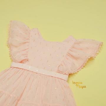 Vestido de Festa Infantil Salmão Fluído Petit Cherie