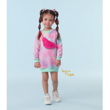 Vestido Infantil Funny Sweet Love Mon Sucré