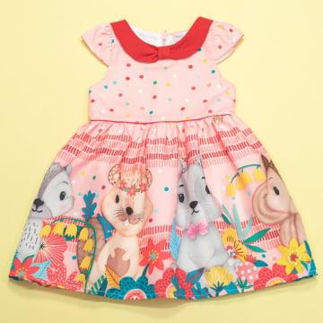 Vestido Infantil Animalia Golinha Mon Sucré