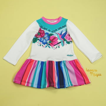 Vestido Infantil Believe In You Dreams Mon Sucré