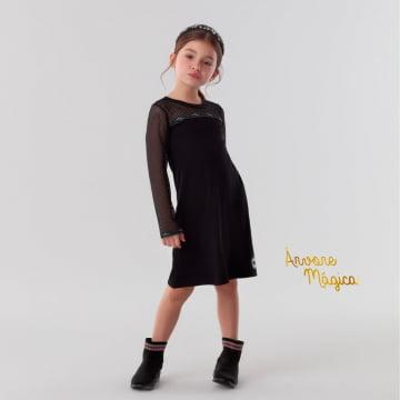 Vestido Infantil Black Tela Petit Cherie