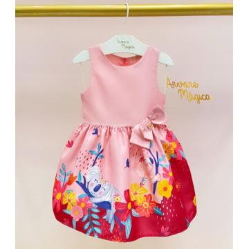 Vestido Infantil Bosque Coalas Mon Sucré