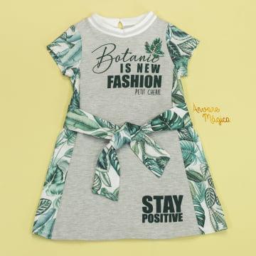Vestido Infantil Botanic Fashion Petit Cherie