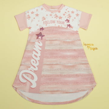 Vestido Infantil Follow Your Dream Petit Cherie