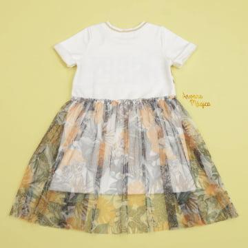 Vestido Infantil Happy Be Tule Safari Petit Cherie