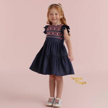 Vestido Infantil Jeans Maria Alice Petit Cherie