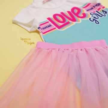 Vestido Infantil Love Girls Mon Sucré