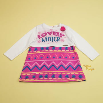 Vestido Infantil Lovely Winter Mon Sucré