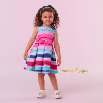 Vestido Infantil Mundo Colorido Mon Sucré